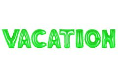 Vacation, green color Stock Photos