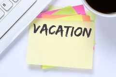 Vacation holiday holidays relax relaxed break free time business Stock Image