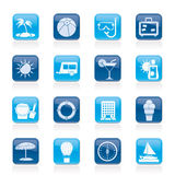 Vacation and holiday icons royalty free illustration