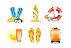 Vacation and holiday icons 4 Royalty Free Stock Photo
