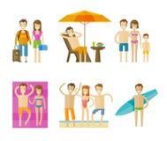 Vacation, holiday vector logo design template Stock Photo