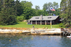 Vacation Home. A vacation home on Boothbay Harbor Maine Stock Photos