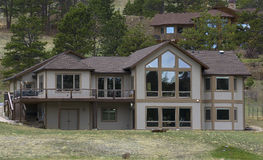 Vacation home near Rocky Mountain Stock Photo