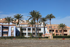 Vacation homes on Costa del Sol, Spain Royalty Free Stock Photography