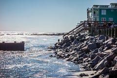 Vacation homes on ht e folly island beach Royalty Free Stock Photography