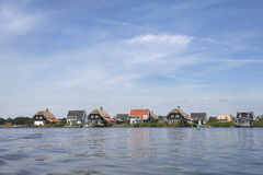 Vacation homes in the village Giethoorn Royalty Free Stock Image