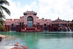 Vacation Hotel. Royal Tower at Atlantis Hotel on Paradise Island in Bahamas royalty free stock images