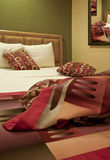 Vacation Hotel Resort Room Bed. Arizona luxury vacation resort bedroom Royalty Free Stock Photo