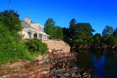 Vacation House Acadia National Park Maine Stock Photos