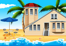 A vacation house at the beach. A relaxing vacation house at the beach Stock Image