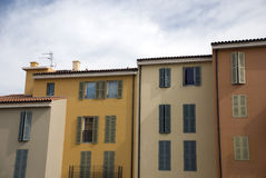 Vacation houses in Fr�jus Stock Photography