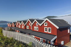 Vacation houses on Lofoten Islands Stock Image