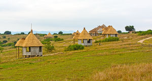 Vacation Huts in Africa Royalty Free Stock Image