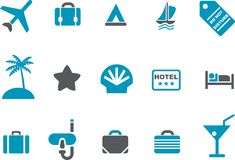 Vacation icon set Stock Images