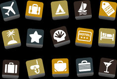 Vacation icon set Royalty Free Stock Photos