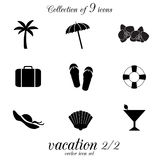 Vacation icon set. Stock Image