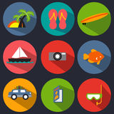 Vacation Icon Set Stock Photo