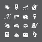 Vacation icon set, vector eps10 Royalty Free Stock Image