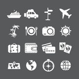 Vacation icon set, vector eps10 Stock Photography