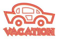 Vacation car line-art style icon Stock Image