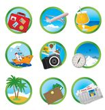 Vacation icons Royalty Free Stock Photography