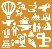 Vacation icons Royalty Free Stock Image