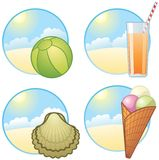 Vacation icons Stock Photography
