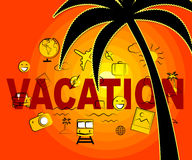 Vacation Icons Indicates Vacations Holiday And Sign Royalty Free Stock Images