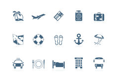 Vacation icons | piccolo series. Illustration of 12 vacation icons | piccolo series Stock Photos