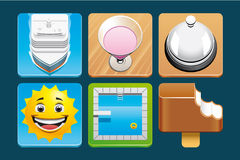 Vacation icons Royalty Free Stock Images