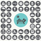 Vacation icons set. Stock Photography