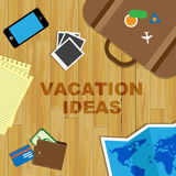 Vacation Ideas Shows Time Off And Concept Royalty Free Stock Image