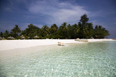 Vacation island in the Maldives Royalty Free Stock Photography