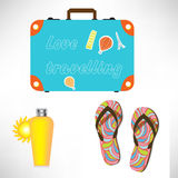Vacation items Royalty Free Stock Image