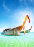 Vacation journey summer background. Traditional thai boats Royalty Free Stock Image