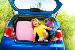 Vacation with kids Stock Images