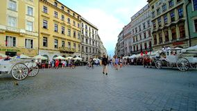 Vacation in Krakow, Poland stock video