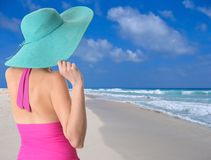 Vacation lady Stock Images
