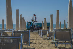 On vacation in Lido di Jesolo (on the beach) Stock Photo