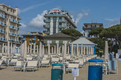 On vacation in Lido di Jesolo (on the beach) Royalty Free Stock Photo