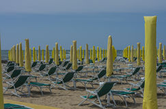 On vacation in Lido di Jesolo (on the beach) Stock Photos