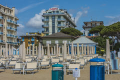 On vacation in Lido di Jesolo (on the beach) Stock Image