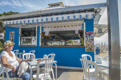 On vacation in Lido di Jesolo (on the beach) Stock Images