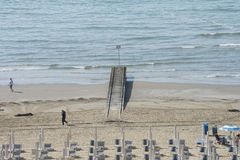 On vacation in Lido di Jesolo (views to the beach) Royalty Free Stock Photography