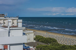 On vacation in Lido di Jesolo (views to the beach) Stock Photos