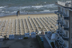 On vacation in Lido di Jesolo (views to the beach) Stock Images