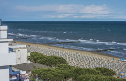 On vacation in Lido di Jesolo (views to the beach) Royalty Free Stock Photos