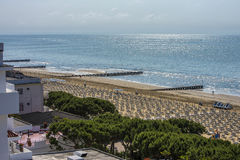 On vacation in Lido di Jesolo (views to the beach) Stock Image