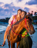 Vacation Lifestyles-Couple Horseback Riding at Stock Images