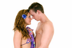 Vacation love, young adults Royalty Free Stock Photo